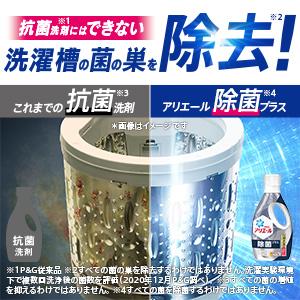 抗菌洗剤*5にはできない! 洗濯槽の菌の巣を除去*6!