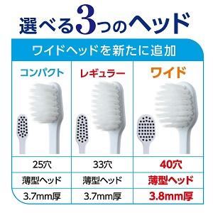 シュミテクト 極細シルキー毛の特長:選べる3つのヘッド