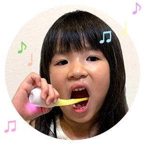 アプリにつながなくても楽しくみがける!音だけモード搭載。