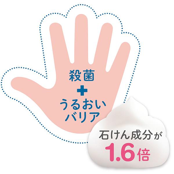 きちんと殺菌+うるおいバリアが手肌を守る