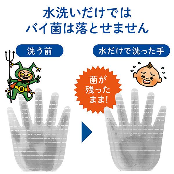 きちんと殺菌、バイ菌から手肌を守る