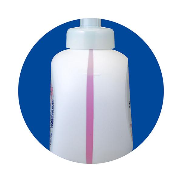 内容量(液面)が外から分かる「ウインドウストライプ」入りボトル