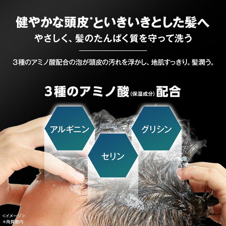 3種のアミノ酸配合。健やかな頭皮と生き生きとした髪へ